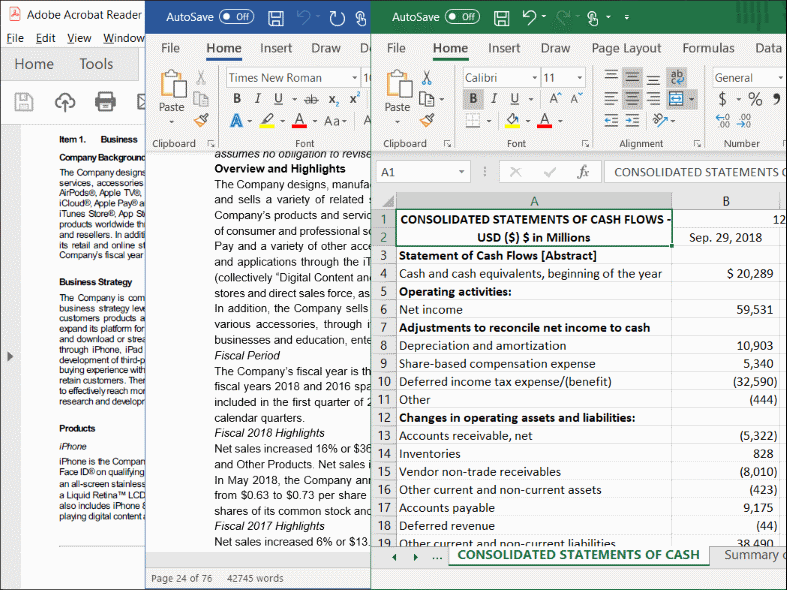 Download Annual and Quarterly Reports as PDF, Word and Excel Documents
